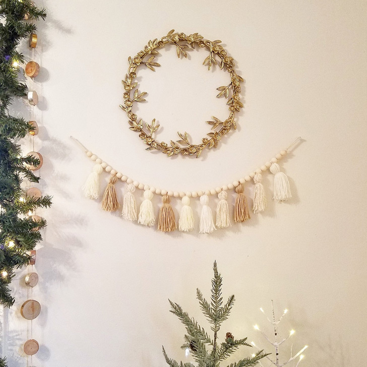 unique christmas decorations garland