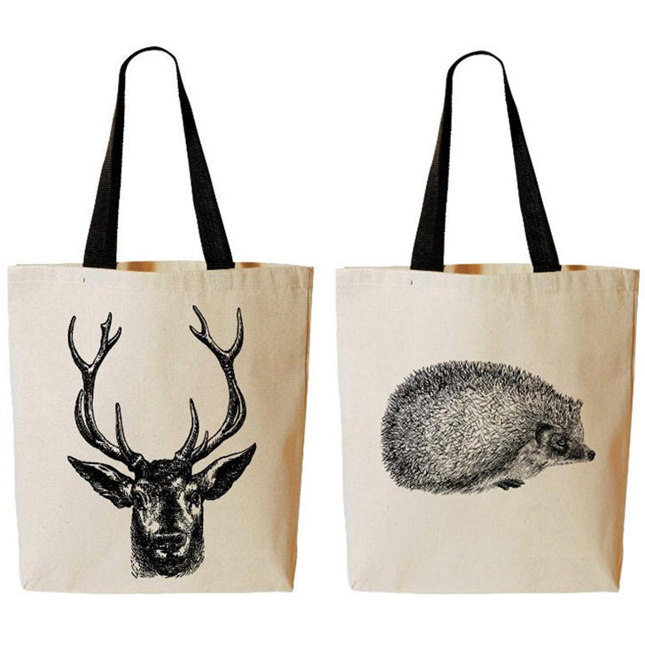 christmas tote canvas bags