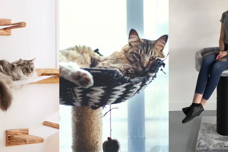 cat trees for small spaces featured image
