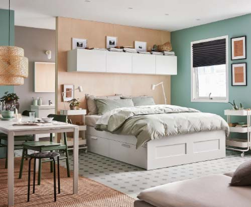 ikea bed storage