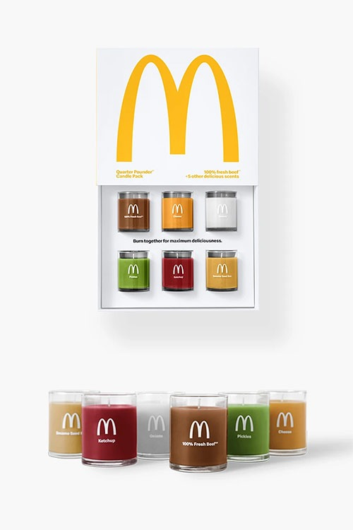mcdonalds scented candle set