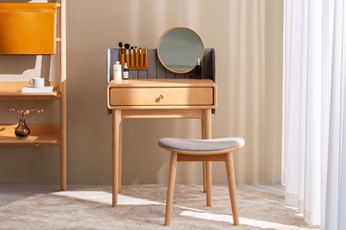 apricot vanity table