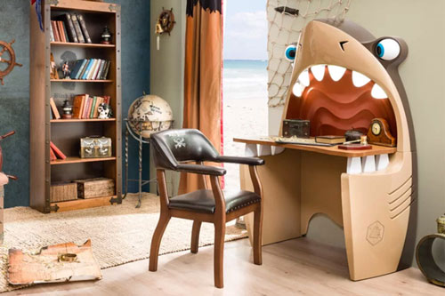 kids shark desk
