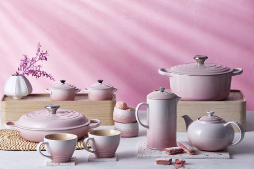 le creuset shell pink