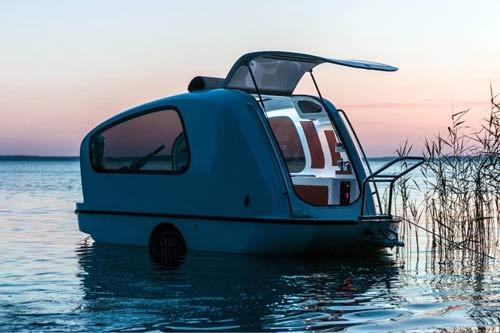 sealander amphibious trailer boat