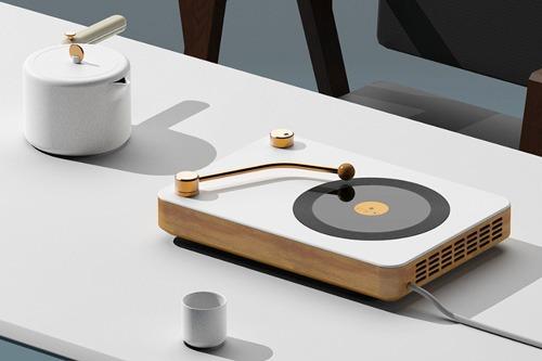 vinyl record player stove