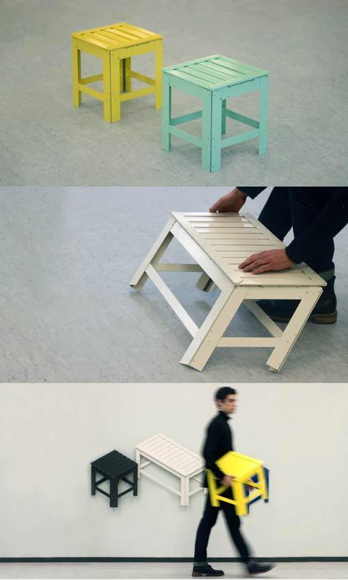 2D folding chair