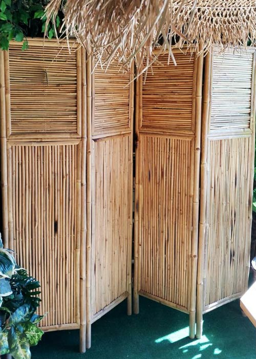 bamboo free-standing screen