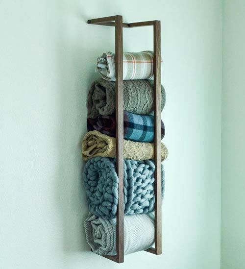 blanket storage rack