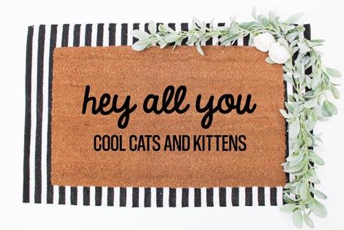 cats and kittens doormat