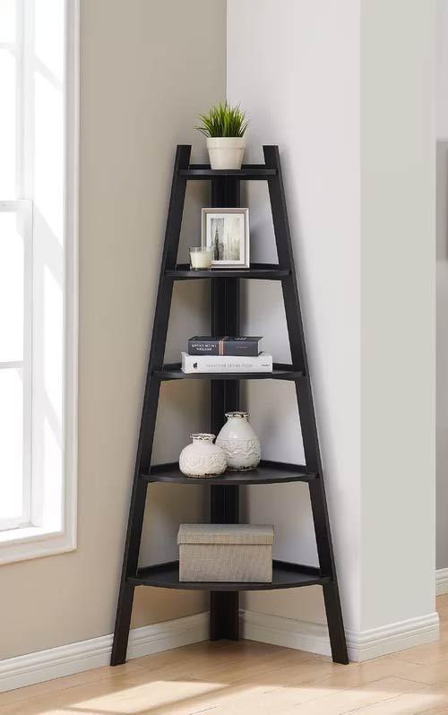 corner bookcase shelf