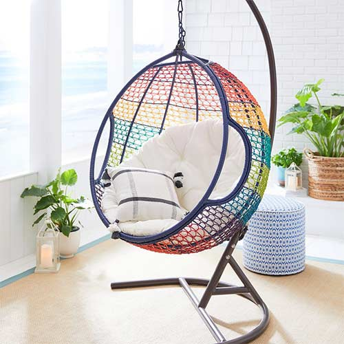 hanging chair for balcony privacy
