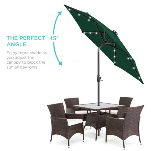 led-powered umbrella for balcony privacy