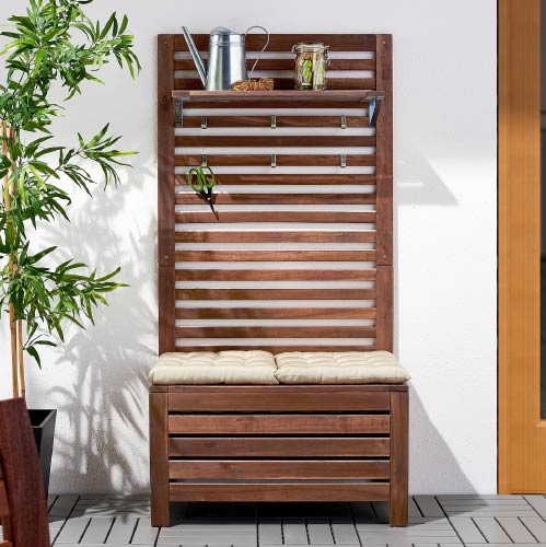outdoor wall panel with storage