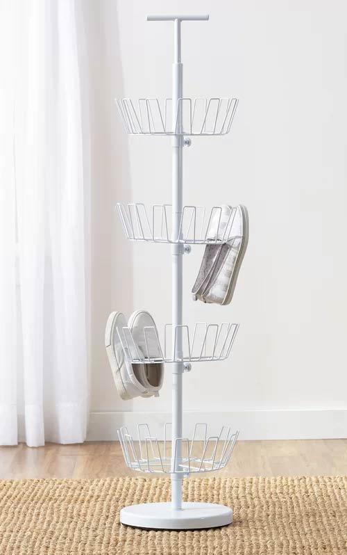 rotating shoe storage rack