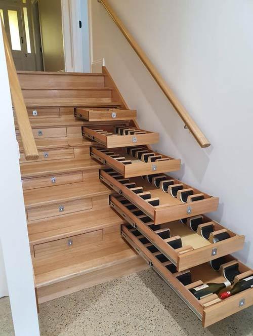 wine stairs