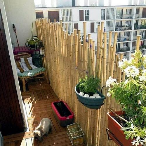 balcony bamboo fence