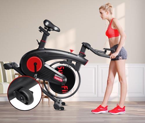 exercise bike on wheels