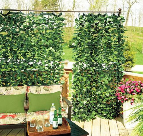 faux ivy balcony curtain