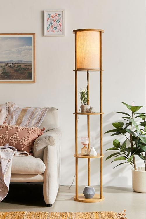 standing lamp shelf