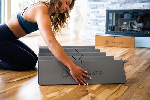 levigato folding yoga exercise mat