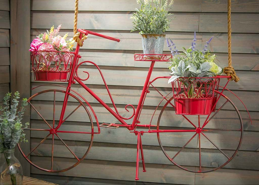 Hanging Bicycle plant stand This wonderful creation looks like something out of a fairytale. If you can make space for it, you'll find it to be one of the best indoor gardening ideas. Its sturdy frame can even serve as a trellis for climbing flowers and ivy.