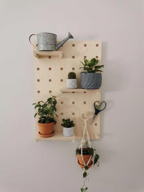 pegboard shelf wall organizer