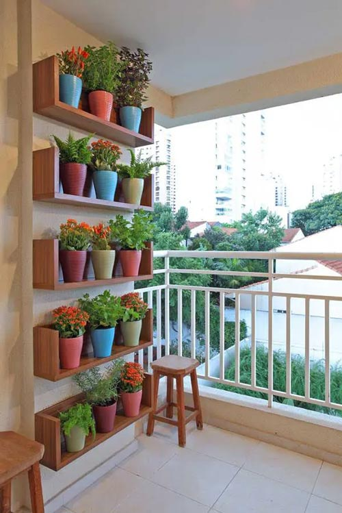 balcony shelves herb garden