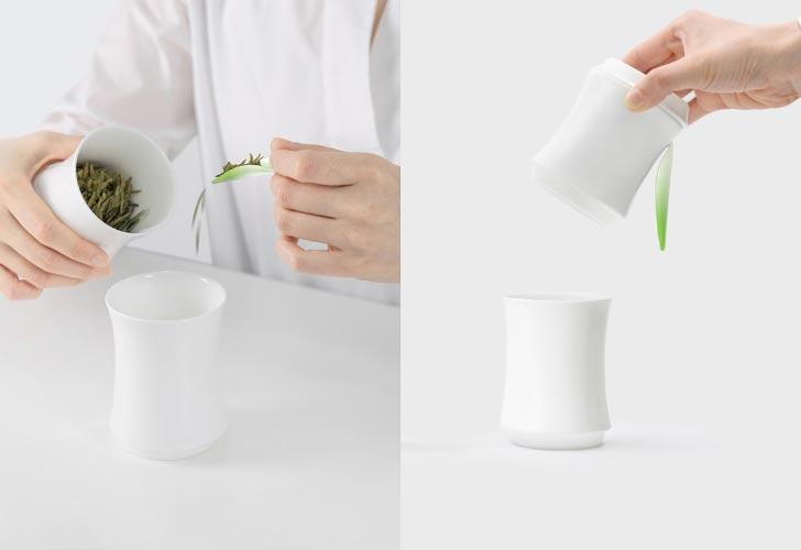 bamboo-shaped tea set