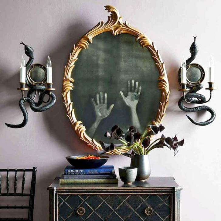 handprints on a mirror