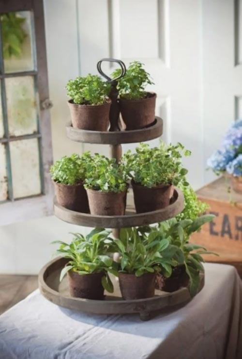 lazy susan herb garden