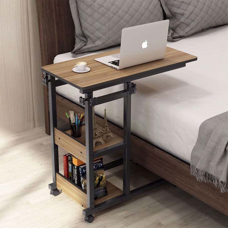 bedside rolling laptop table