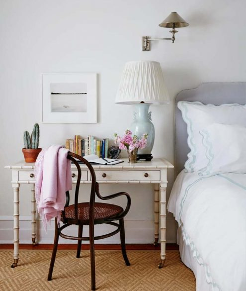 desk bedstand idea for a small space
