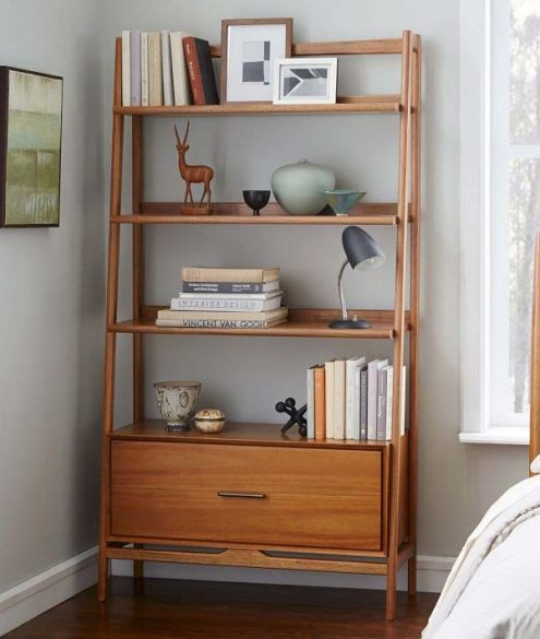 mid-century bedside bookcase