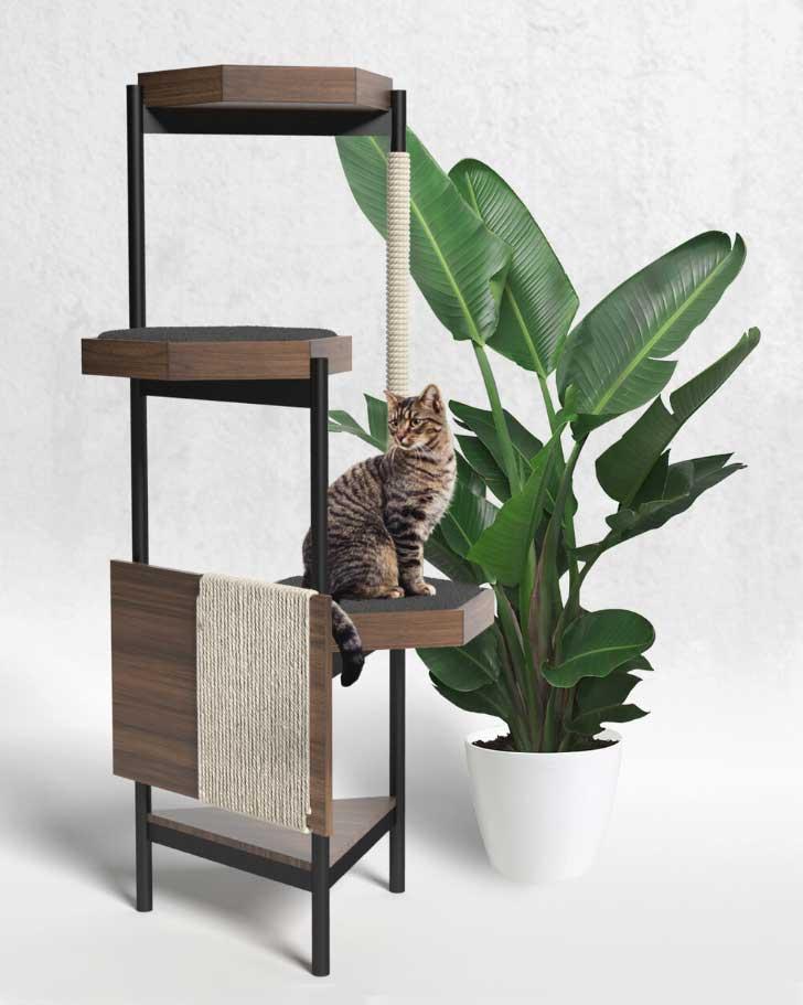 minimalist cat tower