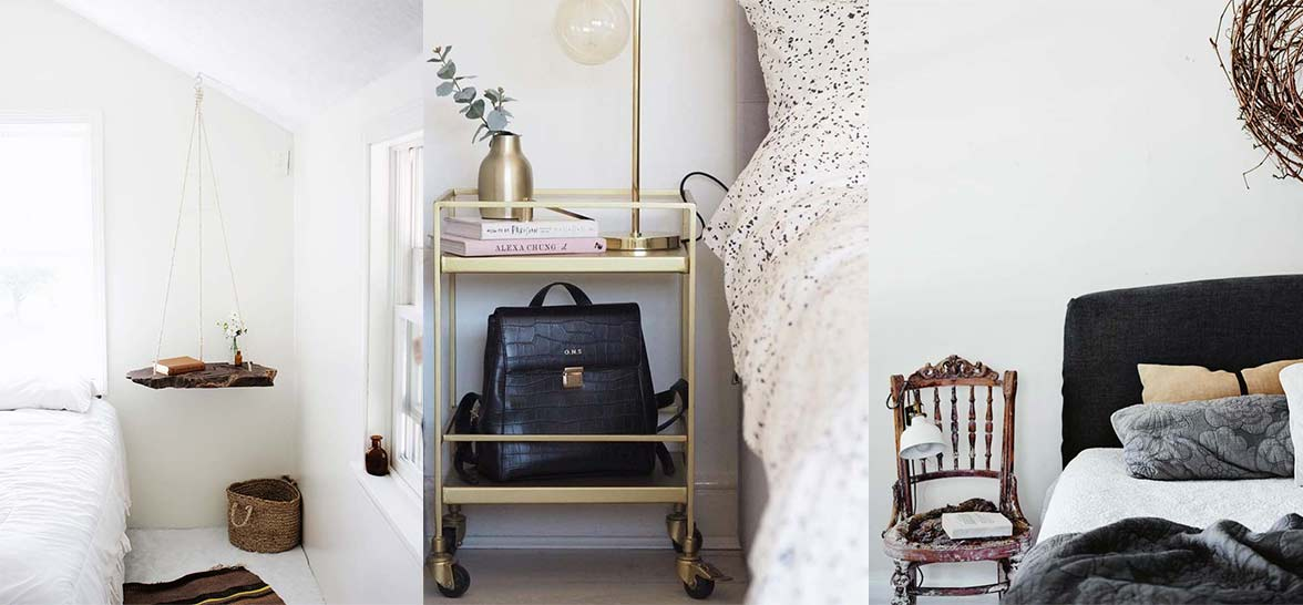 nightstand alternatives for small spaces