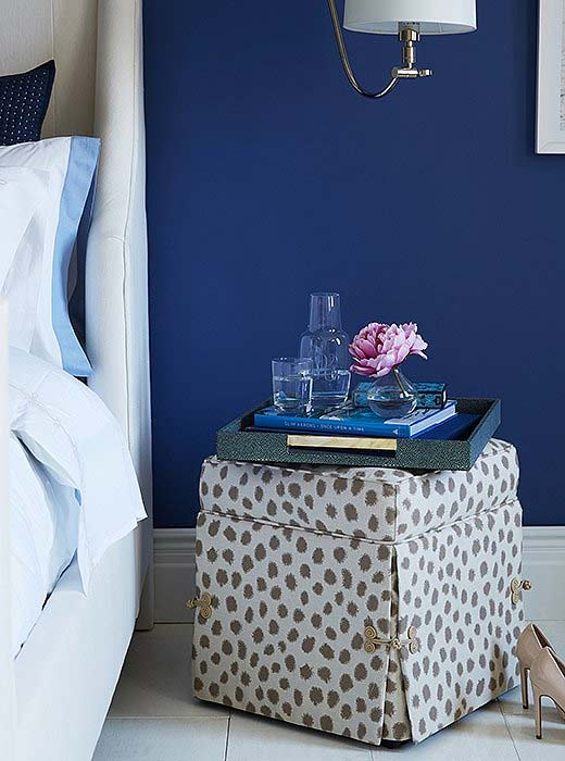 storage ottoman as a nightstand