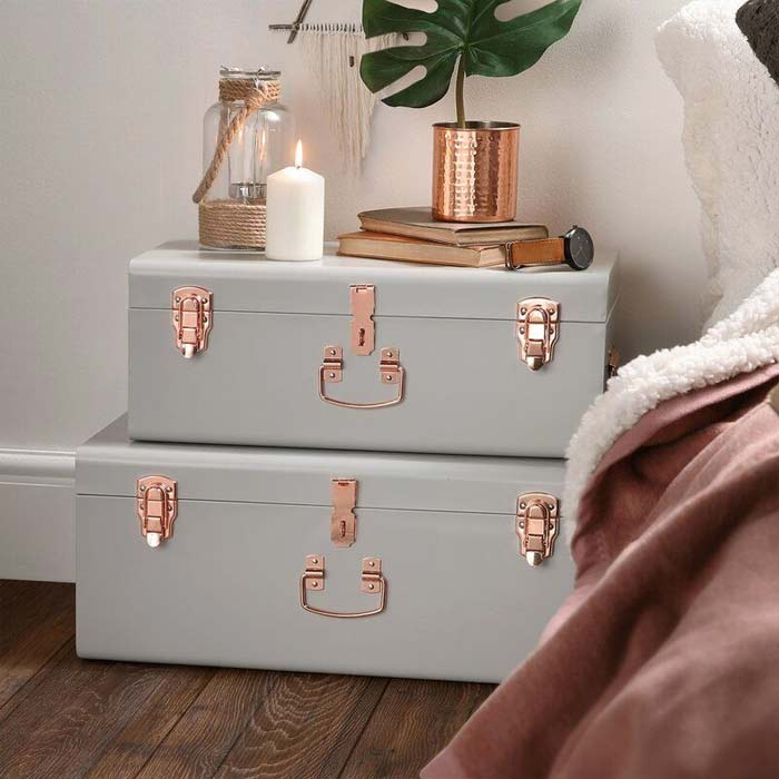 storage trunks bedside table alternative