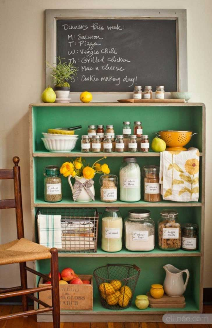 DIY bookcase pantry