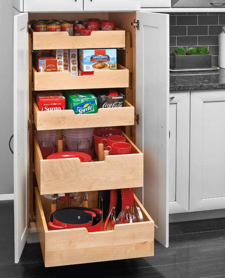 cabinet pantry organization drawers