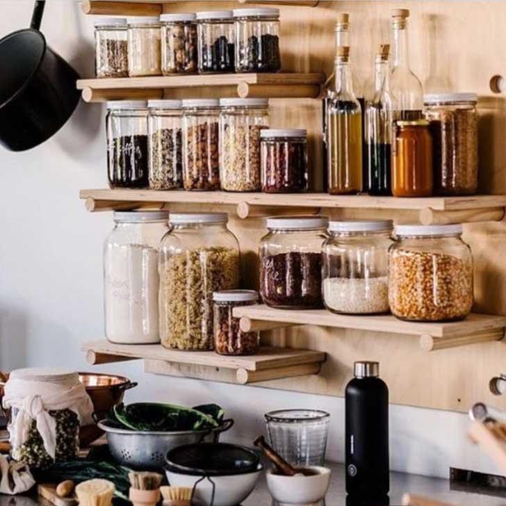 pegboard wall pantry