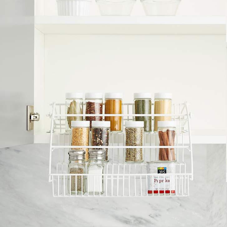 pull down spice rack larder organizer
