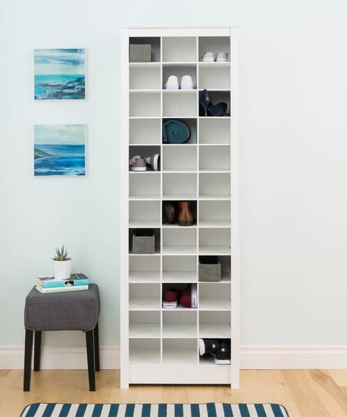 bookshelf storage for shoes