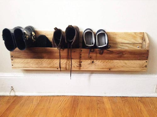 custom-made wooden shoe rack