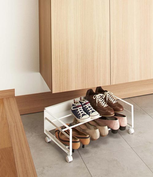 hidden rolling shoe storage