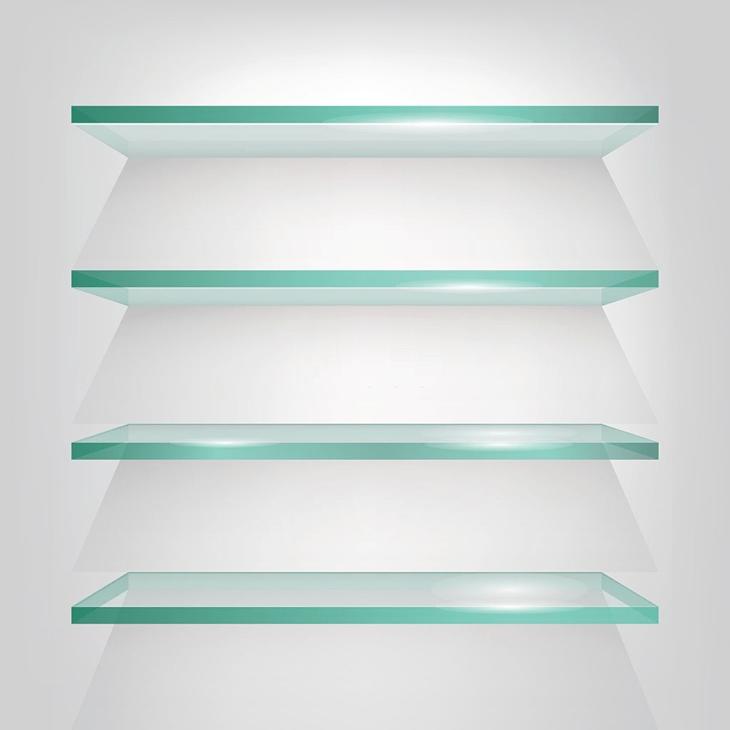 thick glass shelves