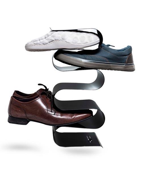wave wall shoe storage