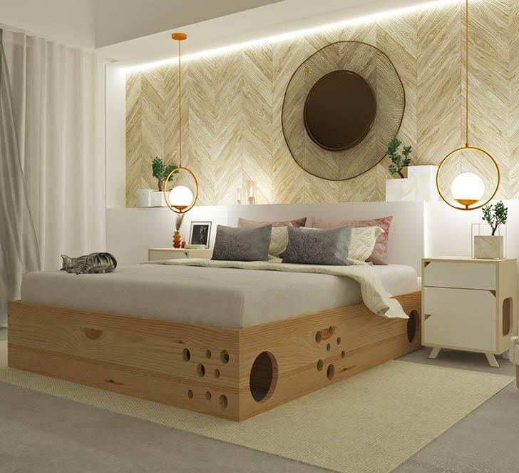 cat maze bed frame