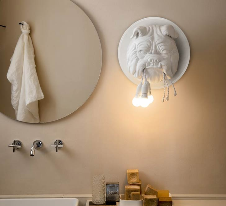 english bulldog wall sconce lamp