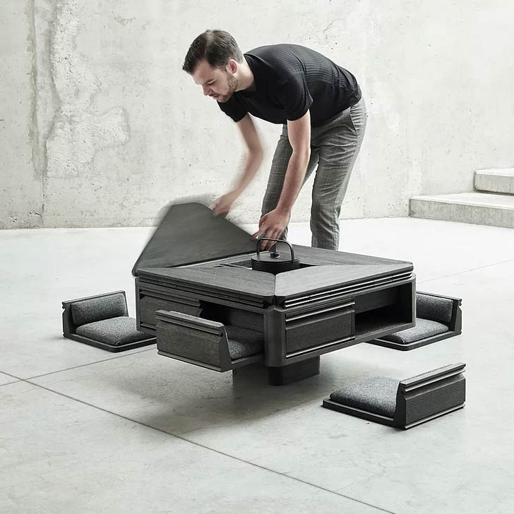 hasu japanese inspired transforming table